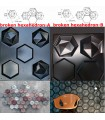 Broken honeycomb-B - ABS Plastic Press Mold 3d Panels Wall Stone Art Design Decor