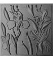 Iris - ABS Plastic Press Mold 3d Panels Wall Stone Art Design Decor
